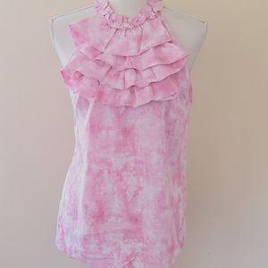 Tweeds pink acid wash blouse size medium